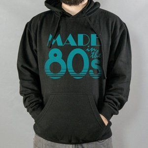 Made In The 80s Hoodie Black Style